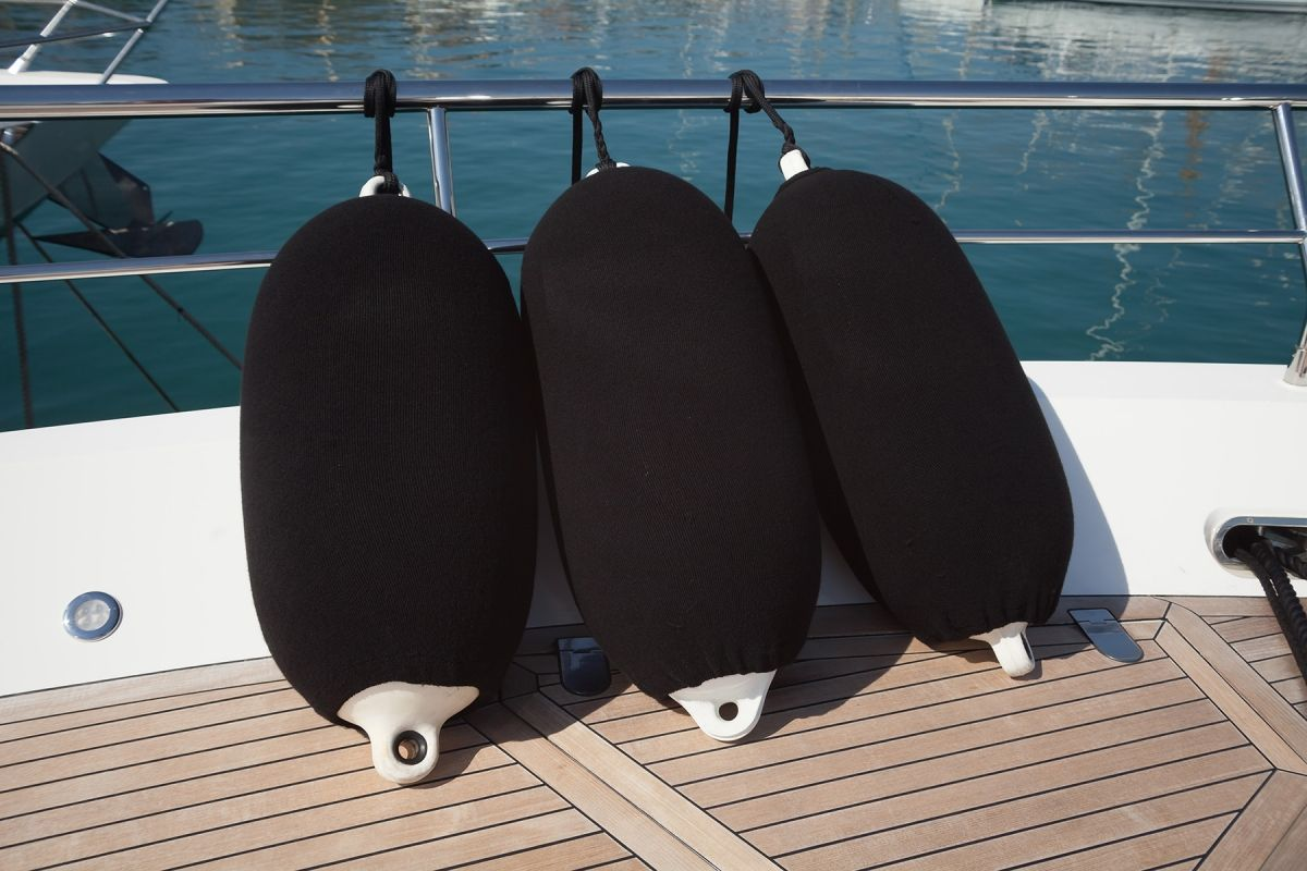 Plain boat fender covers